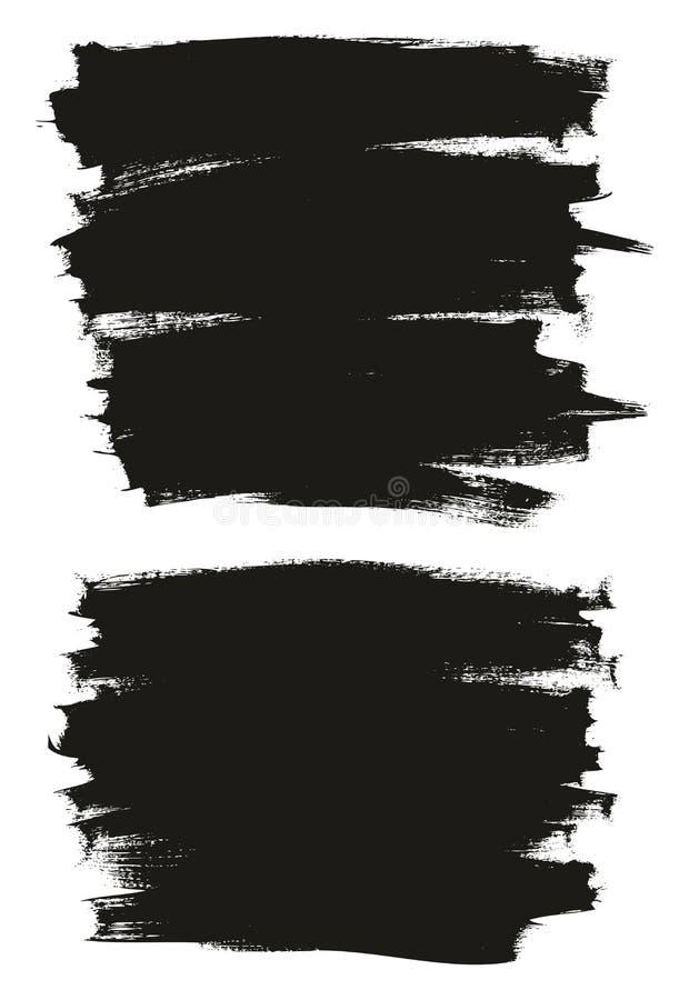 Kalligraphie malen dünner Bürsten-Hintergrund-hohes Detail, Zusammenfassungs-Vektor-, denhintergrund 16 einstellte stock abbildung