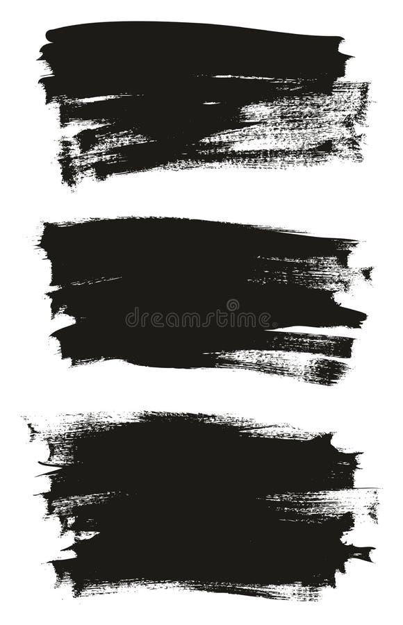 Kalligraphie malen dünner Bürsten-Hintergrund-hohes Detail, Zusammenfassungs-Vektor-, denhintergrund 18 einstellte stock abbildung
