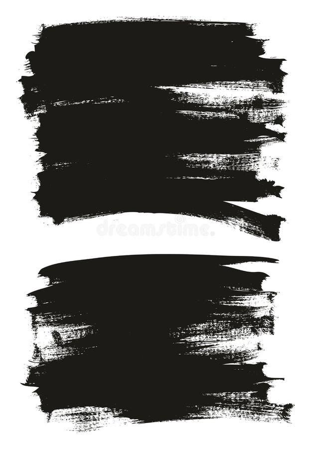 Kalligraphie malen dünner Bürsten-Hintergrund-hohes Detail, Zusammenfassungs-Vektor-, denhintergrund 14 einstellte vektor abbildung