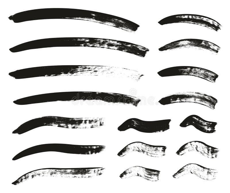 Kalligraphie-Pinsel-gekrümmte Linien führen hoch abstrakten Vektor-Hintergrund einstellten 159 einzeln auf vektor abbildung