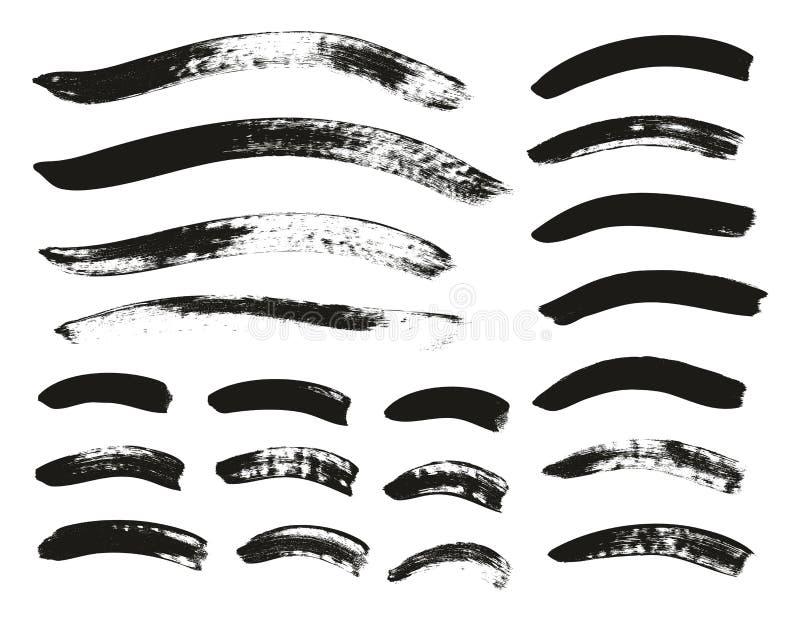 Kalligraphie-Pinsel-gekrümmte Linien führen hoch abstrakten Vektor-Hintergrund einstellten 139 einzeln auf lizenzfreie abbildung