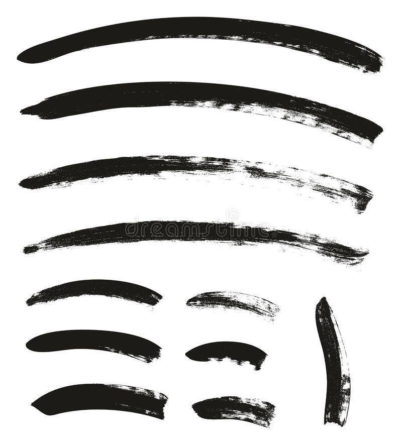 Kalligraphie-Pinsel-gekrümmte Linien führen hoch abstrakten Vektor-Hintergrund einstellten 108 einzeln auf vektor abbildung