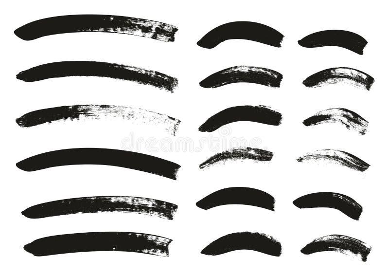 Kalligraphie-Pinsel-gekrümmte Linien führen hoch abstrakten Vektor-Hintergrund einstellten 90 einzeln auf vektor abbildung