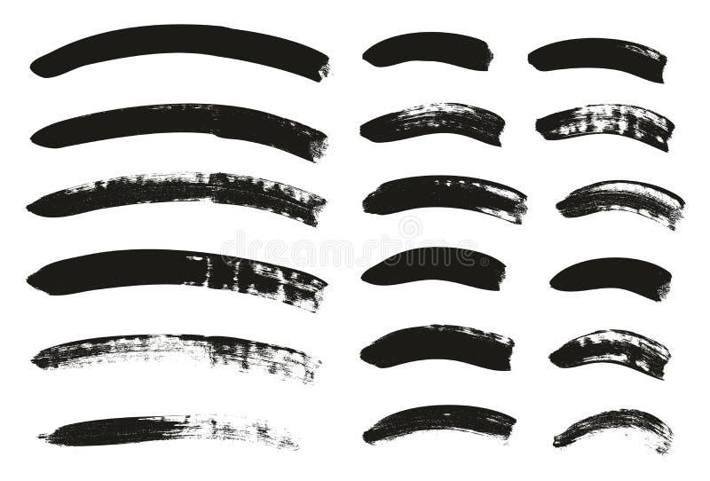 Kalligraphie-Pinsel-gekrümmte Linien führen hoch abstrakten Vektor-Hintergrund einstellten 89 einzeln auf stock abbildung