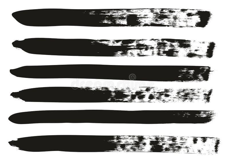 Kalligraphie-Pinsel zeichnet hohes Detail, Zusammenfassungs-Vektor-, denhintergrund 57 einstellte lizenzfreie abbildung
