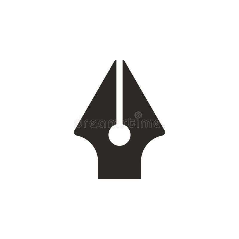 Kalligraphie, Tintenstiftikone - Vektor Einfache Elementillustration von UI-Konzept Kalligraphie, Tintenstiftikone - Vektor Infog stock abbildung