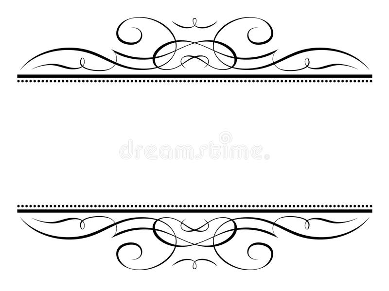 Kalligraphievignetten-Kalligraphiefeld vektor abbildung