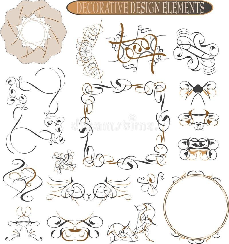 Kalligraphische Auslegungelemente und Seitendekoration vektor abbildung