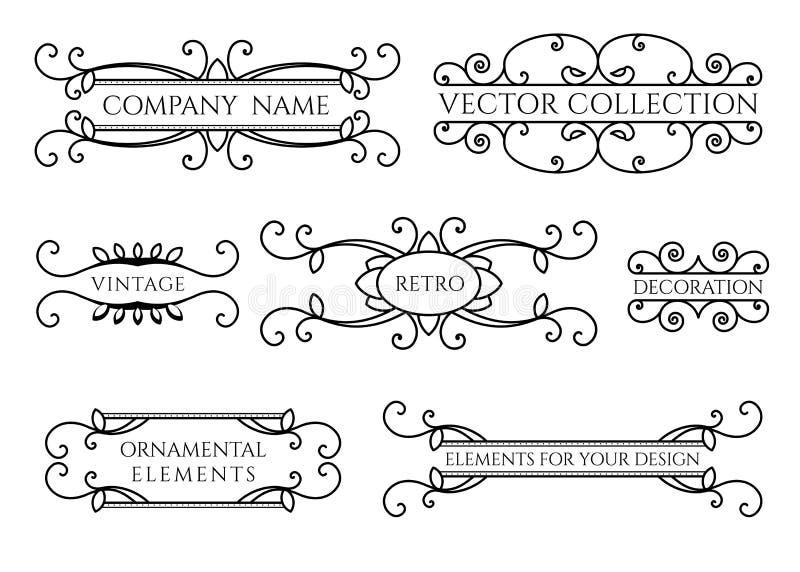 Kalligraphische Gestaltungselemente vektor abbildung