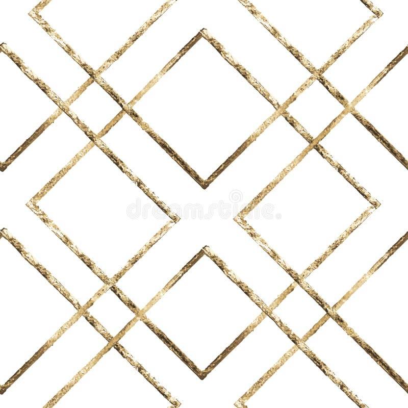 Kalligraphische Verzierung- und Auslegungelemente Material ist Gold Auch im corel abgehobenen Betrag Retro- Arthintergrund Nahtlo stock abbildung