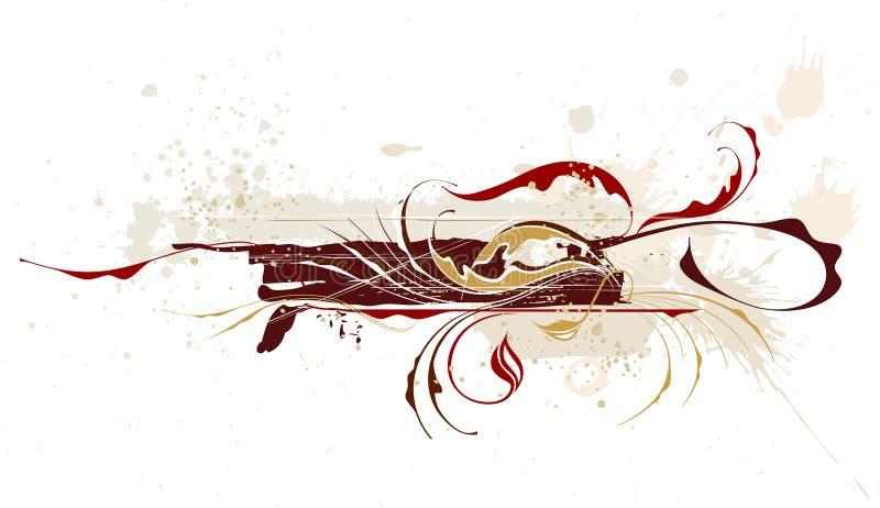 Kalligraphisches Weinlese grunge vektor abbildung