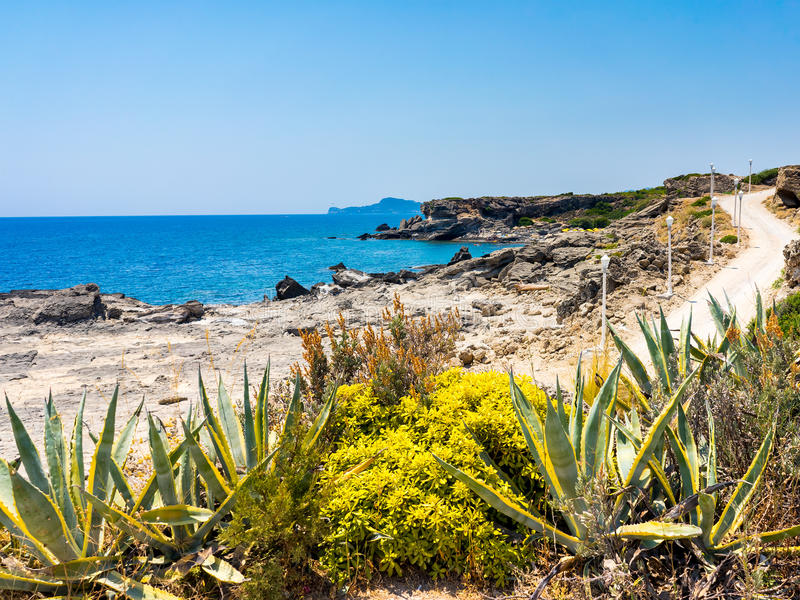 Kallithea Rhodes Greece fotografia stock libera da diritti