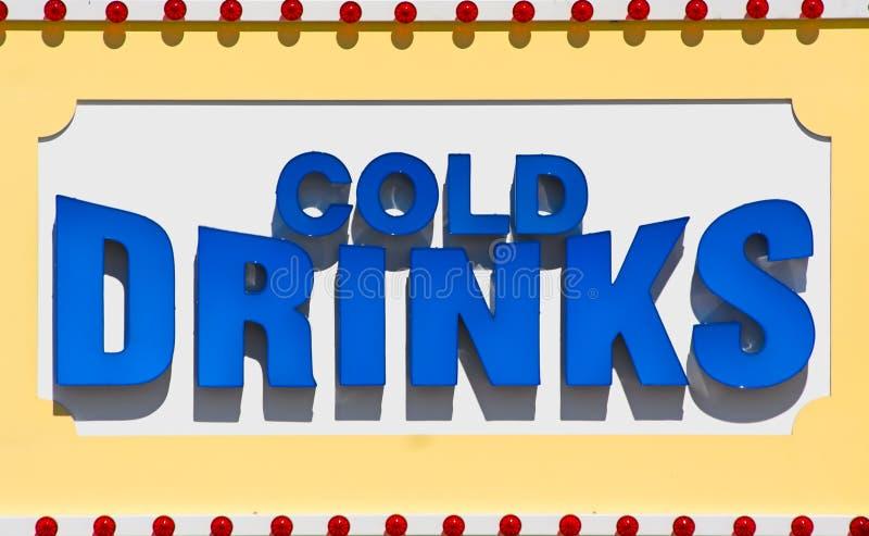 kallt drinktecken stock illustrationer