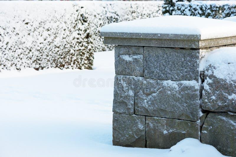 Kallt granithörn royaltyfri bild