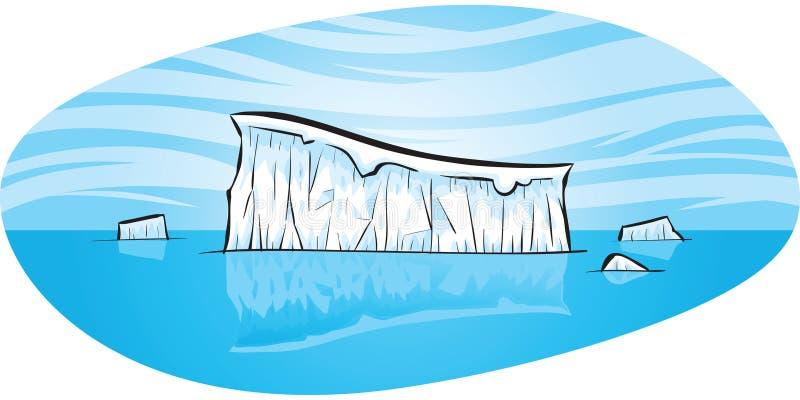 Kallt isberg royaltyfri illustrationer