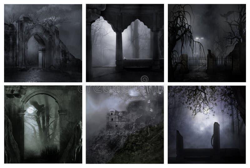 Kallt kusligt på nätterna royaltyfria bilder