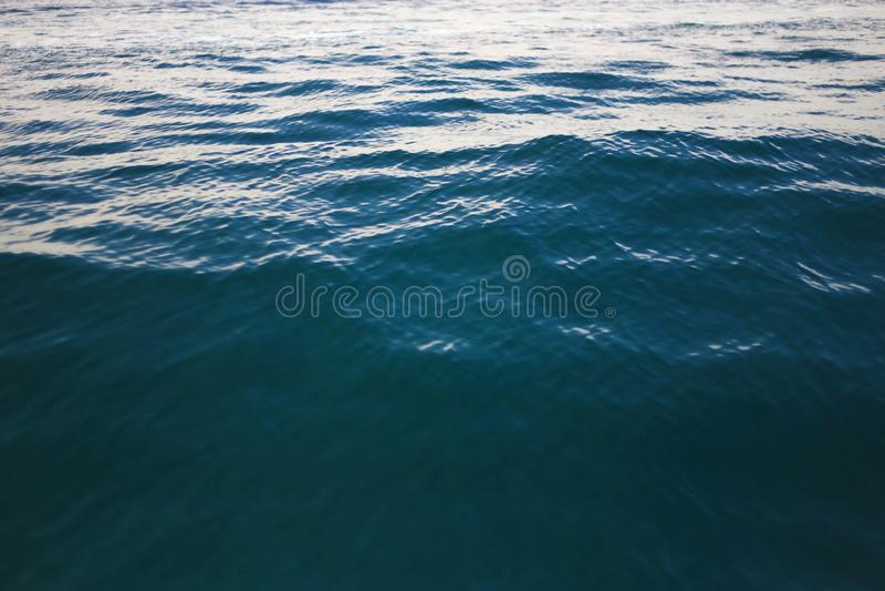 Kalm Oceaan marmeren zeewater wild schuim royalty-vrije stock foto's