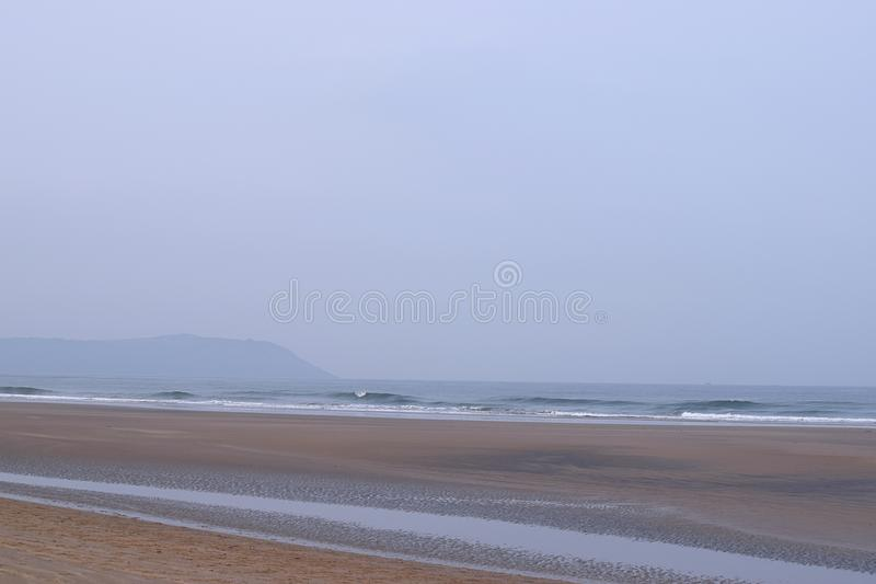 Kalm Ontspannend Serene Beach, Aareware, Ganpatipule, India royalty-vrije stock afbeeldingen