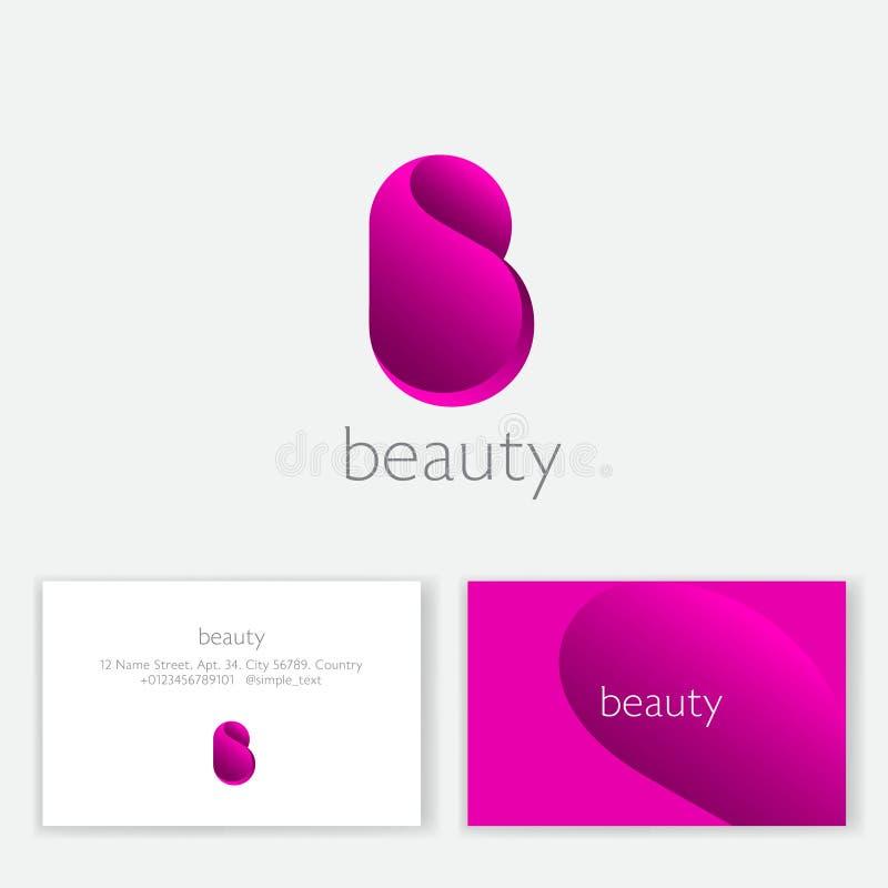 ??kalmar?? 桃红色B组合图案 信件b作为一个桃红色瓣 温泉、女用贴身内衣裤或者化妆用品象征 库存例证