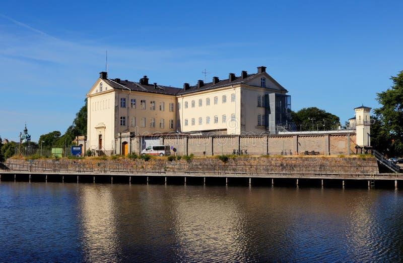 Kalmar prison. Kalmar, Sweden - June 28, 2018: Exterior view of the Kalmar prison stock images
