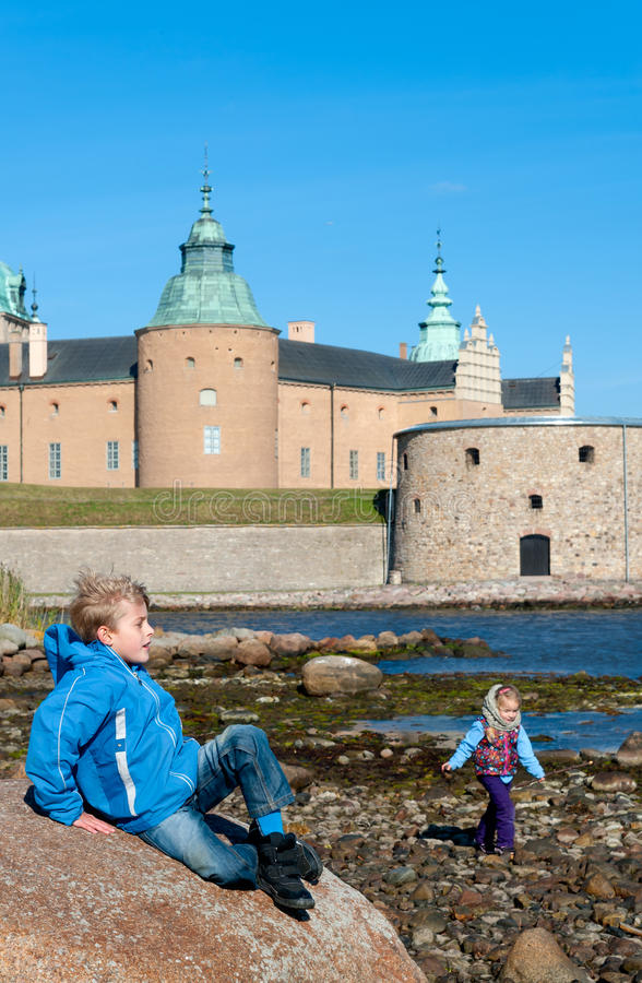 Kalmar-Schloss, Schweden stockfotos