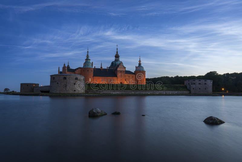 Kalmar slott i Sverige royaltyfri foto