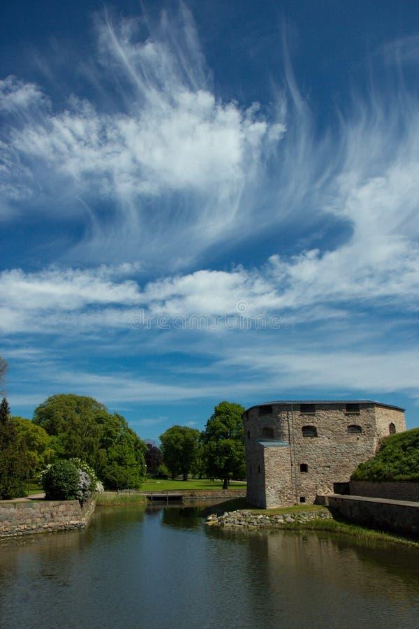 Kalmar slott i Sverige Skandinavien Europa fotografering för bildbyråer