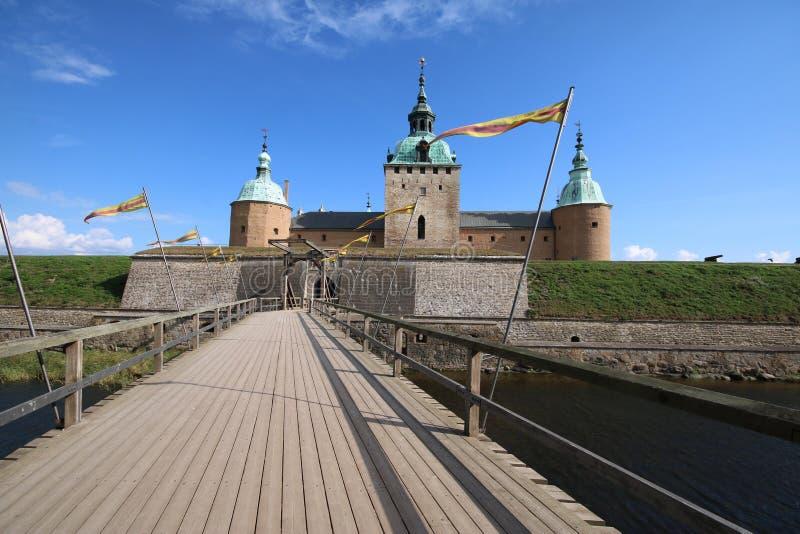 Kalmar slott Sverige royaltyfri fotografi