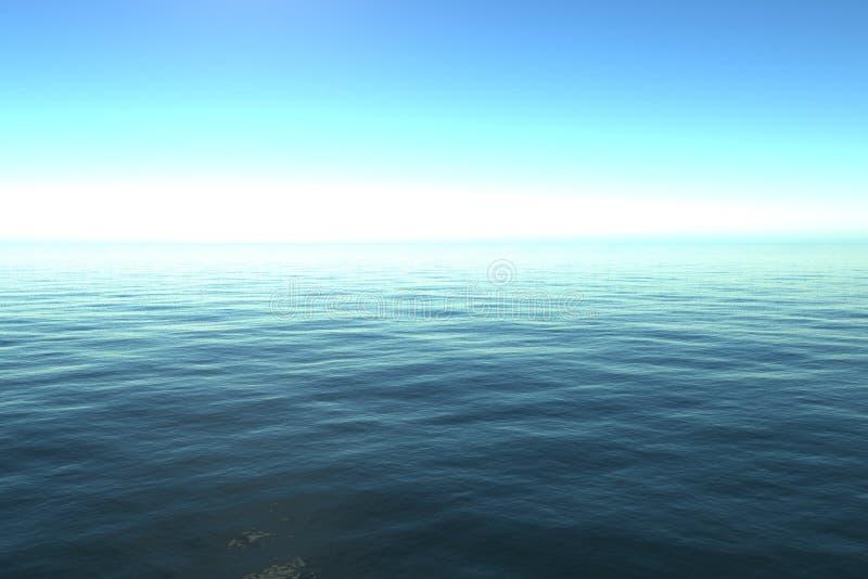 Kalme oceaan royalty-vrije illustratie