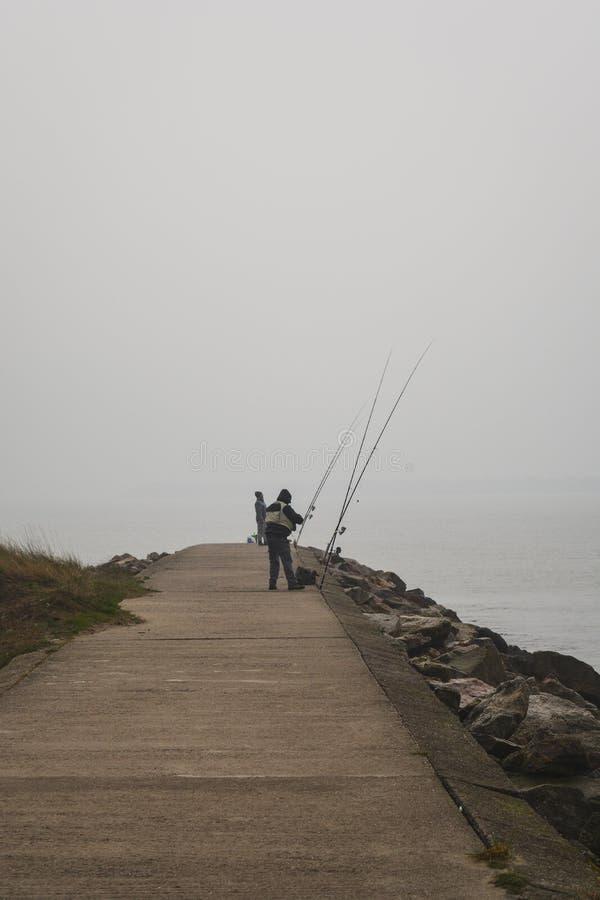 Kalme visserij royalty-vrije stock afbeelding