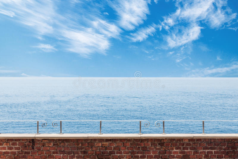 Kalme zeegezichtmening royalty-vrije stock afbeelding