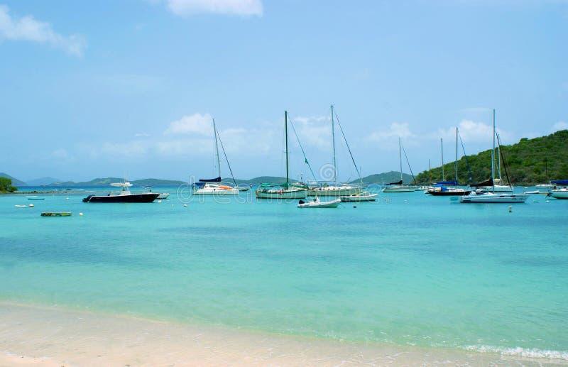 Kalmte in Cruz Bay, USVI royalty-vrije stock fotografie