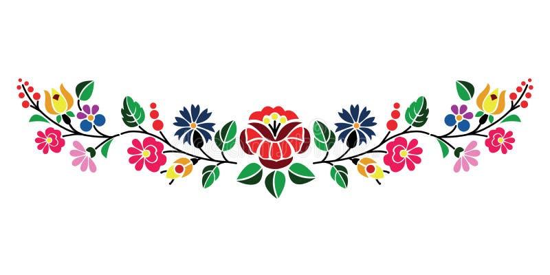 Kalocsai pattern. A beautiful hungarian Kalocsai floral pattern