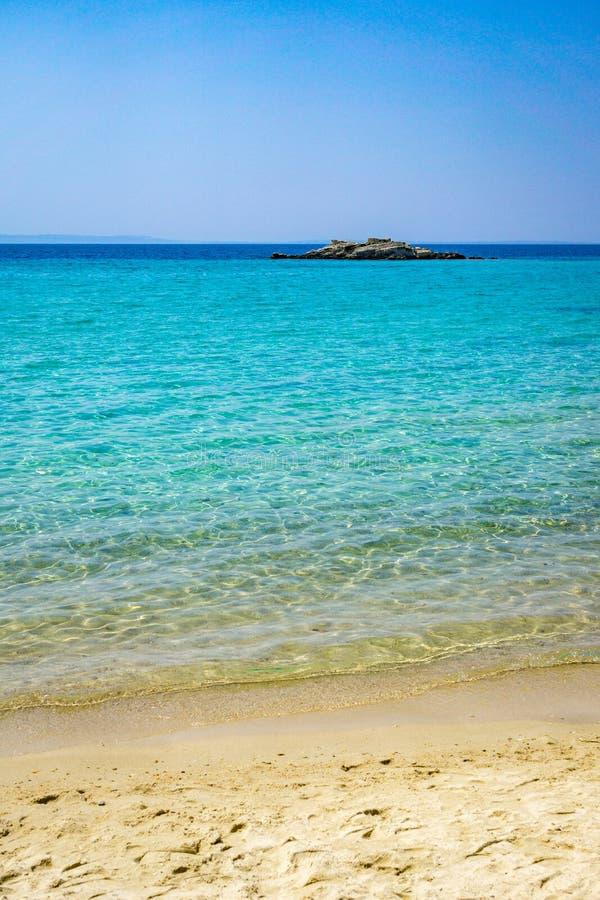 Kalogria plaża obrazy royalty free