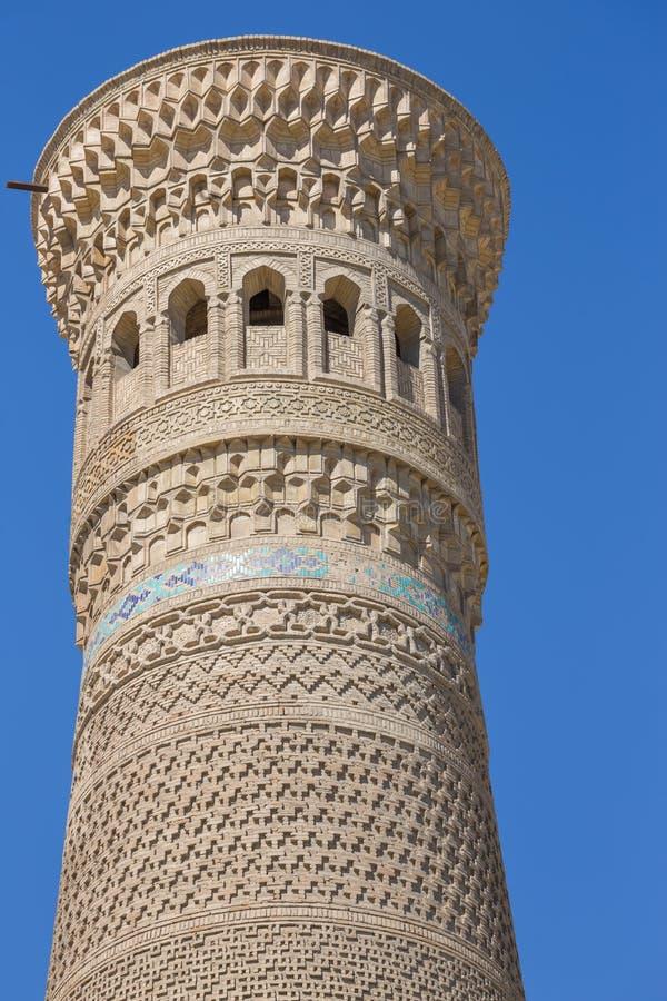 Kalon minaret w Bukhara Buxoro, Uzbekistan zdjęcie stock