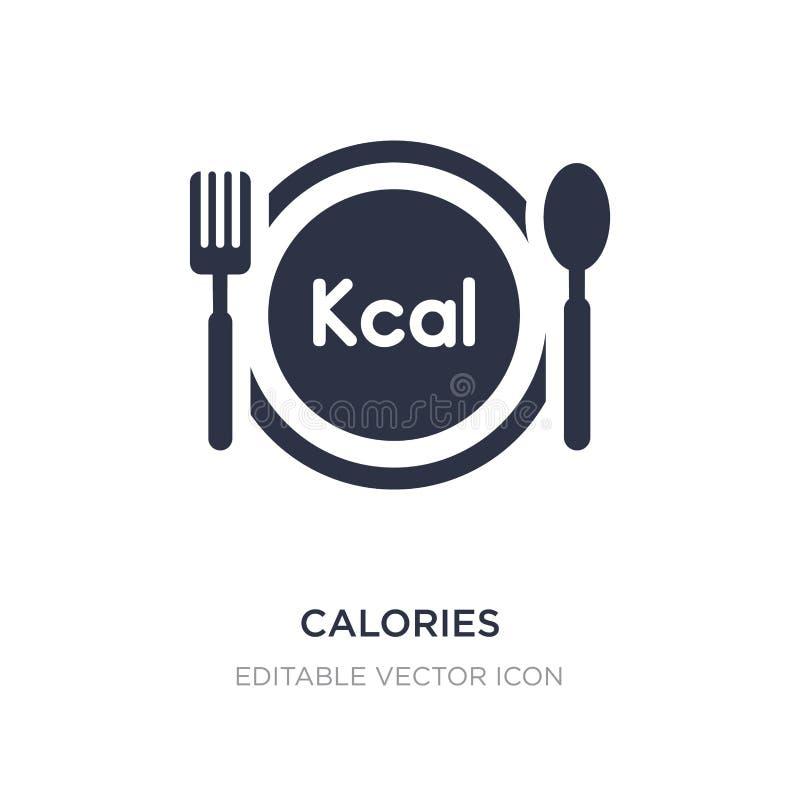 Kalorien Ikone auf weißem Hintergrund Einfache Elementillustration vom Nahrungsmittelkonzept lizenzfreie abbildung