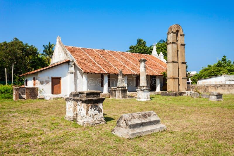 Kalpitiya荷兰教会,斯里兰卡 库存图片