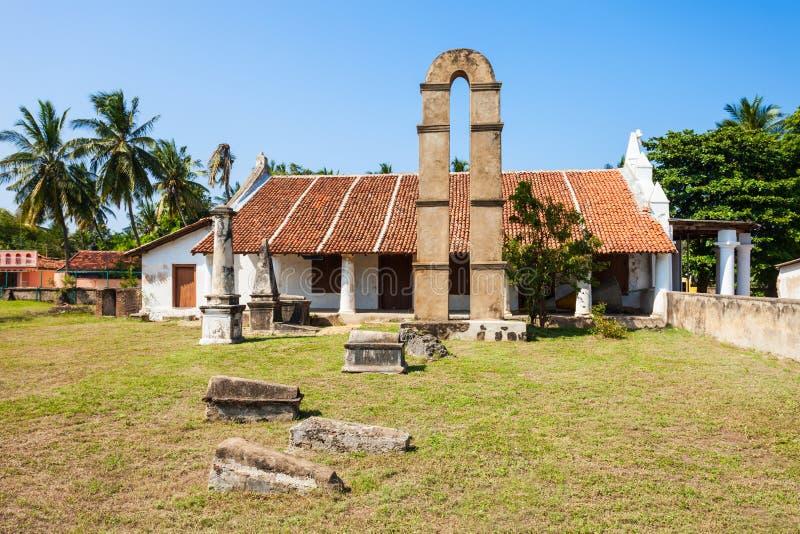 Kalpitiya荷兰教会,斯里兰卡 库存照片