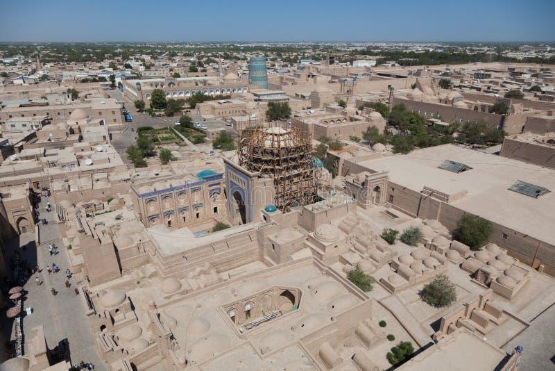 Kalta mindre minaret i Khiva, Khorezm region, Uzbekistan arkivfoton