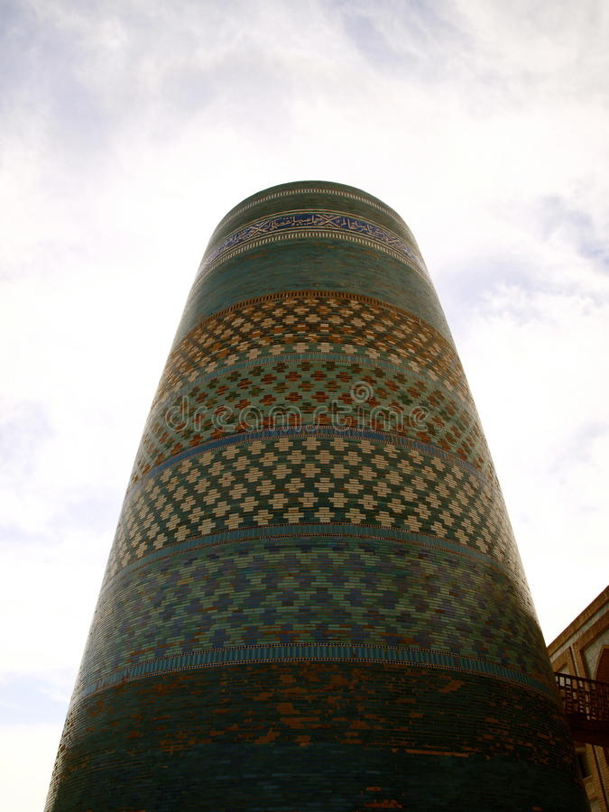 Kalta Minor Minaret. In Khiva royalty free stock images