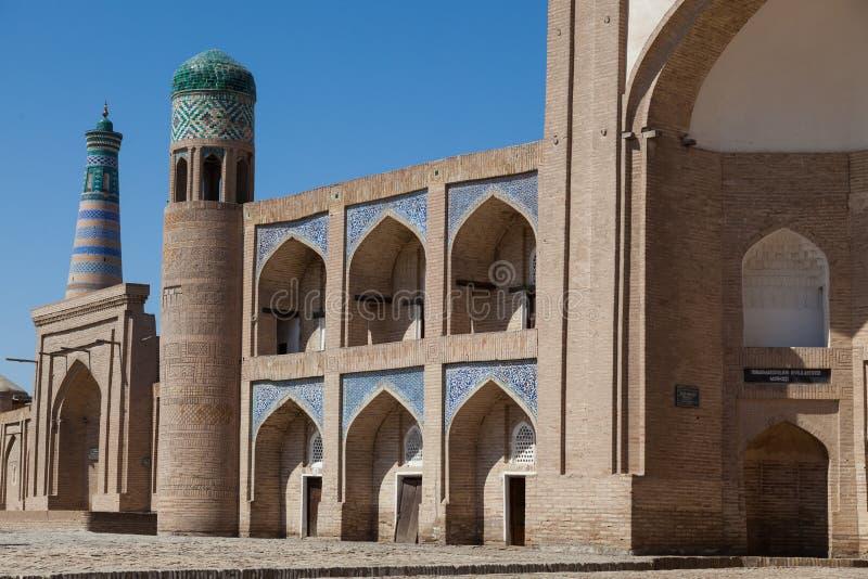 Kalta Minor minaret in Khiva, Khorezm Region, Uzbekistan. Oriental buildings of old city of Itchan Kala. Khiva, Uzbekistan stock images