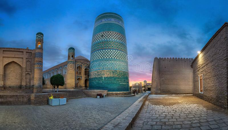 Kalta Mniejszościowy minaret w Khiva, Uzbekistan obrazy royalty free