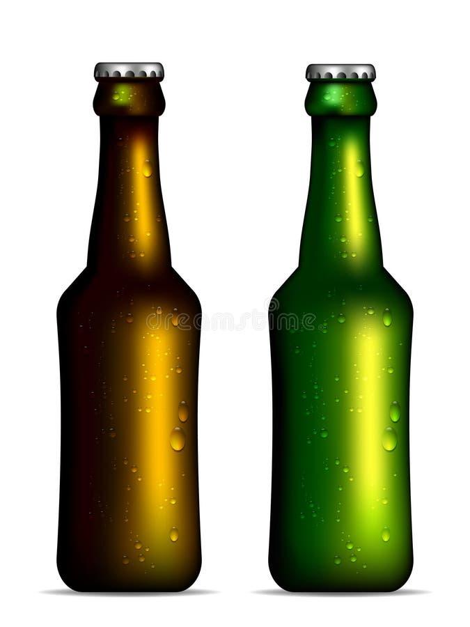 Kalte Bierflaschen Lizenzfreies Stockbild