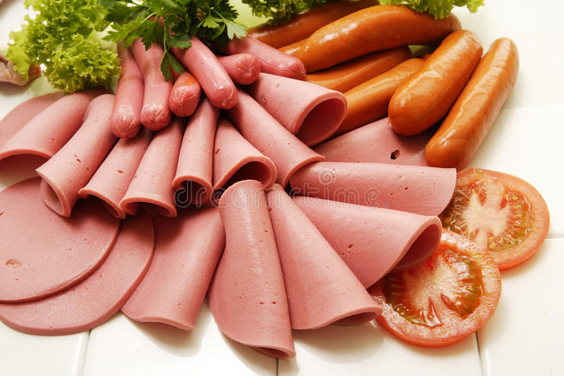 Kalte Feinkostgeschäft-Fleisch-Sammlung lizenzfreie stockfotos