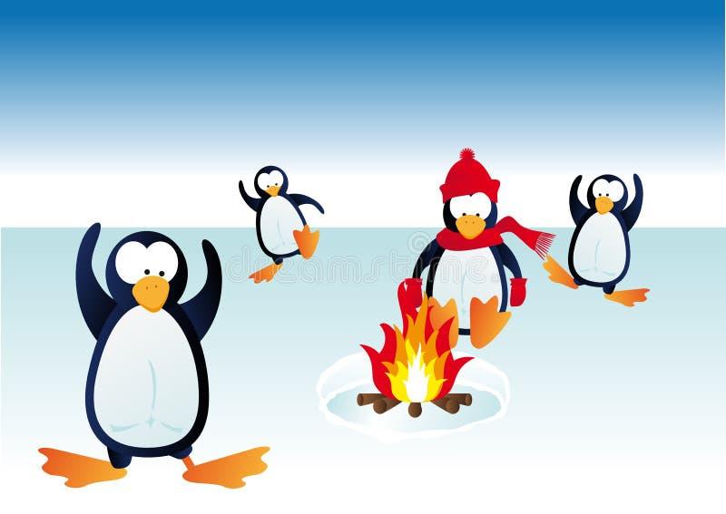 Kalte Pinguine vektor abbildung