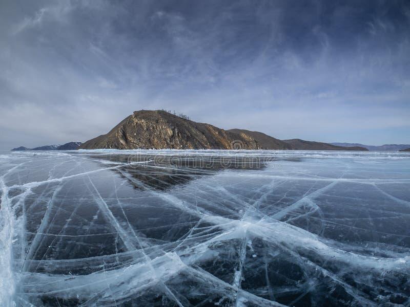 Kalte und glatte transparente Eisoberfläche sieht wie abstrakte Beschaffenheit aus lizenzfreies stockfoto