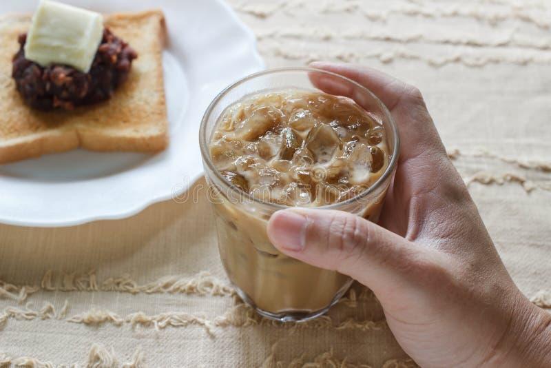 Kalter gefrorener Kaffee lizenzfreies stockbild
