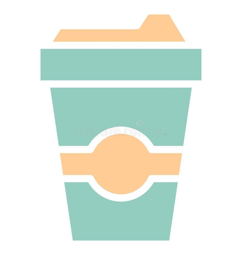 Kalter Kaffee des Druckes lokalisierte Vektorikone, die leicht ?ndern oder redigieren kann stock abbildung