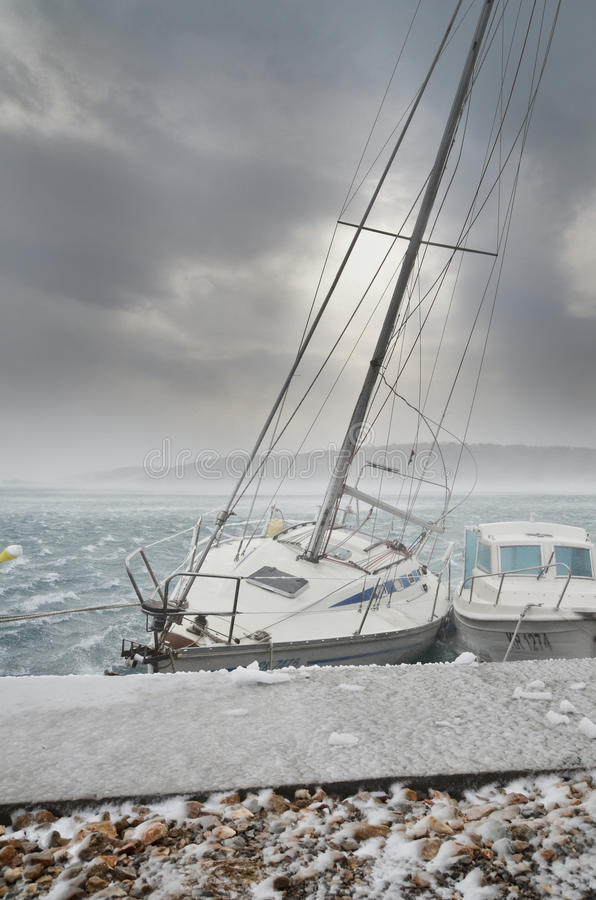 Kalter Sturm stockfotos