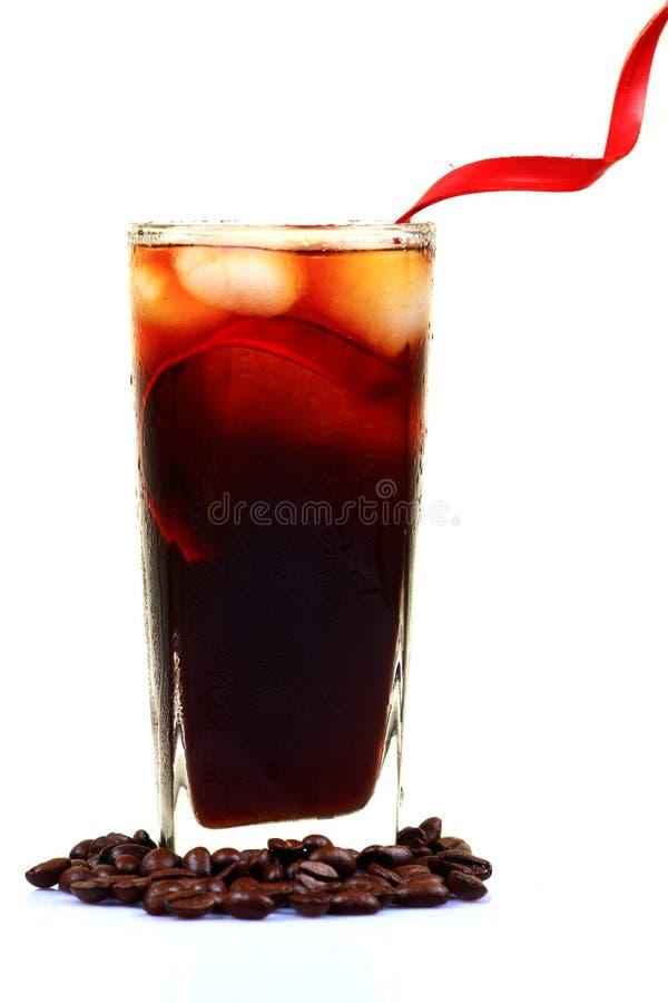 Kaltes Kaffeeglas stockfoto